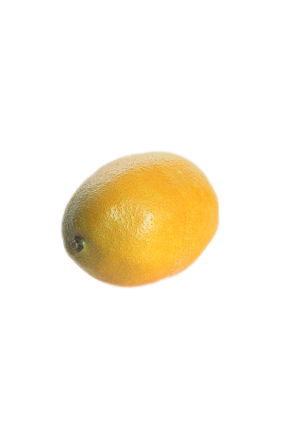 Frutta artificiale Limone giallo - verde 9 cm