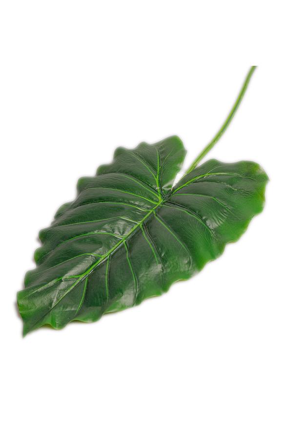 Foglia artificiale di Taro verde 70 cm