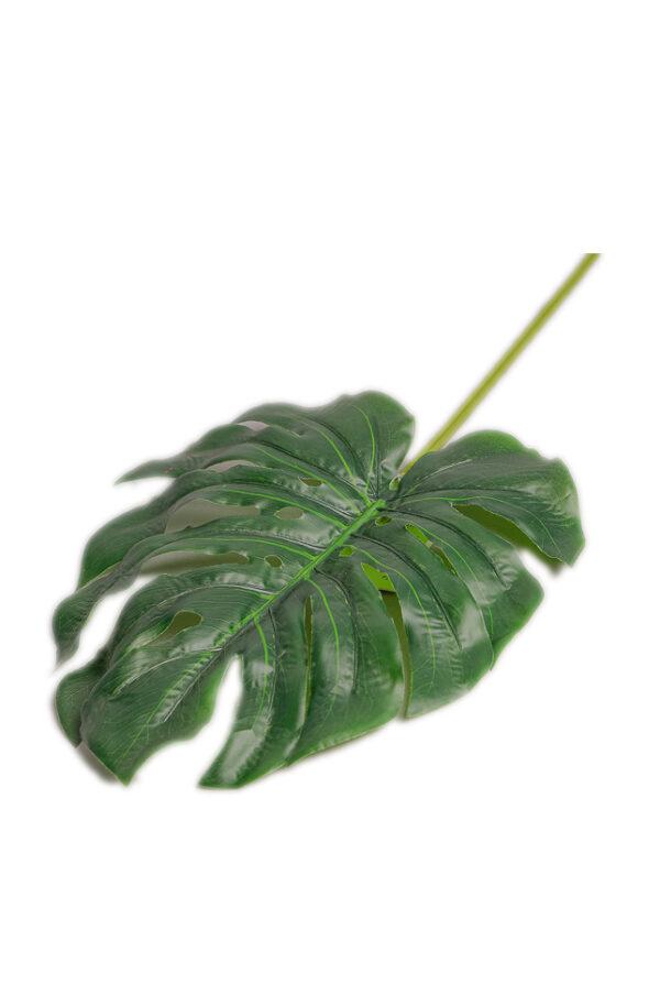 Foglia artificiale di Filodendro verde 68 cm
