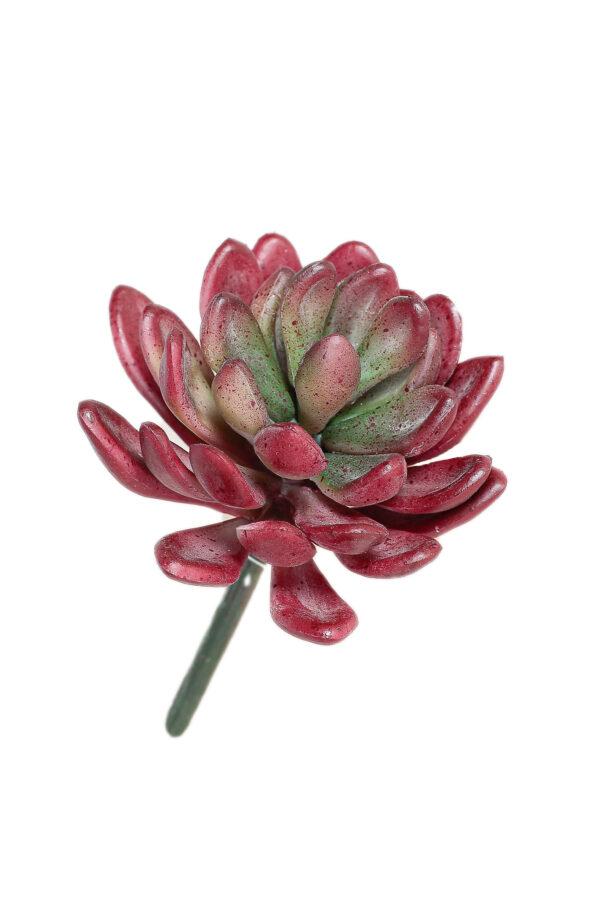 Pianta grassa succulenta artificiale color burgundy da invasare 11 cm