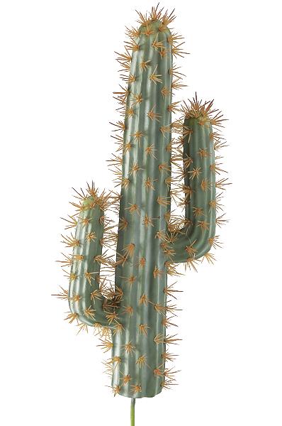 Ramo artificiale di Cactus verde-grigio con spine da invasare 18 x h. 45 cm