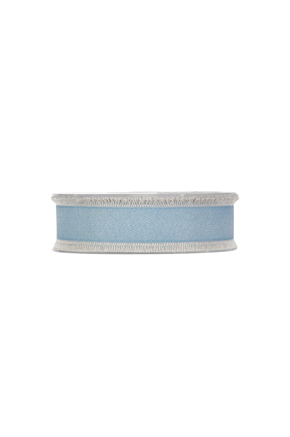 Nastro con frange blu chiaro 25 mm x 15 mt
