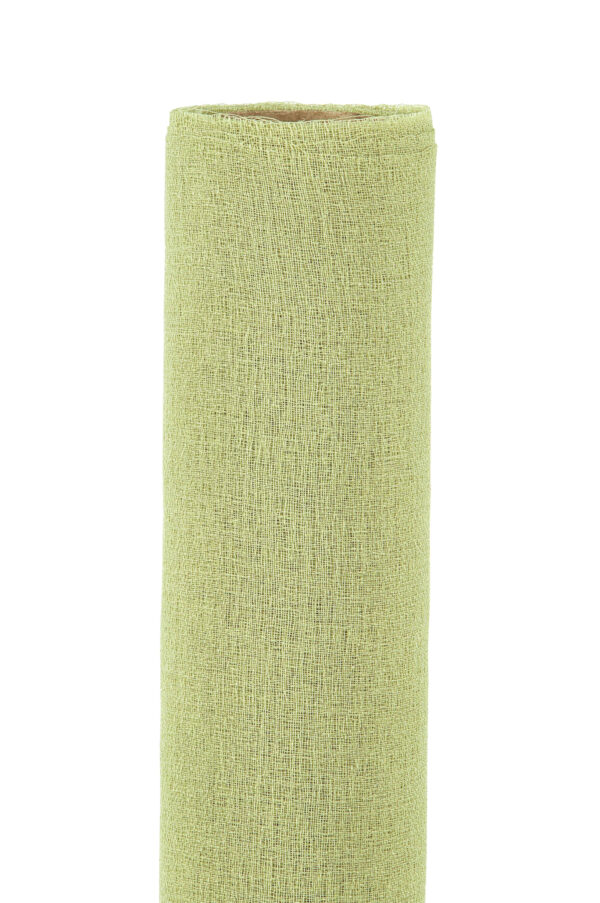 Runner in tessuto morbido color verde salvia 70 cm x 5 mt