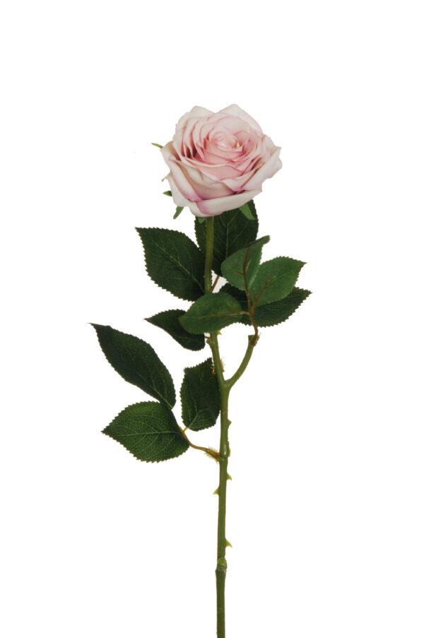 Stelo Rosa dell'Ecuador artificiale color rosa crema 65 cm
