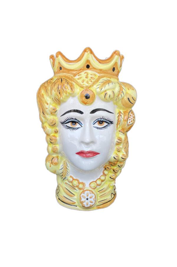 Vaso Testa di Moro in ceramica dipinta h. 35 cm