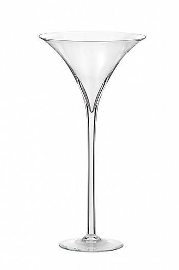 Vaso coppa martini in vetro trasparente h. 50 d. 24 cm