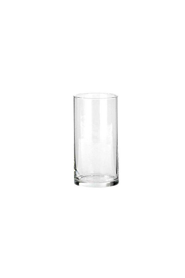 Cilindro portacandele - portafiori in vetro trasparente d. 10 cm h. 20 cm