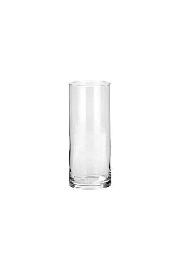 Vaso Cilindro portacandele - portafiori in vetro trasparente d. 10 cm h. 25 cm