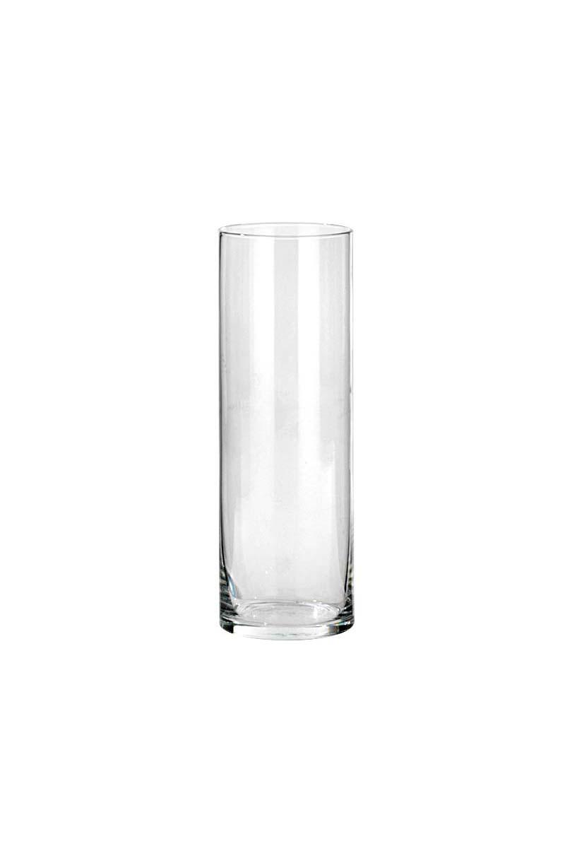 Vaso Cilindro portacandele - portafiori in vetro trasparente d. 10 cm h. 30 cm