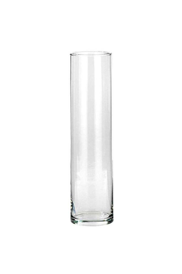Vaso Cilindro portacandele - portafiori in vetro trasparente d. 10 cm h. 40 cm