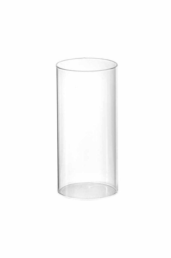 Cilindro Parafiamma per portacandele in vetro d. 7 h. 23 cm