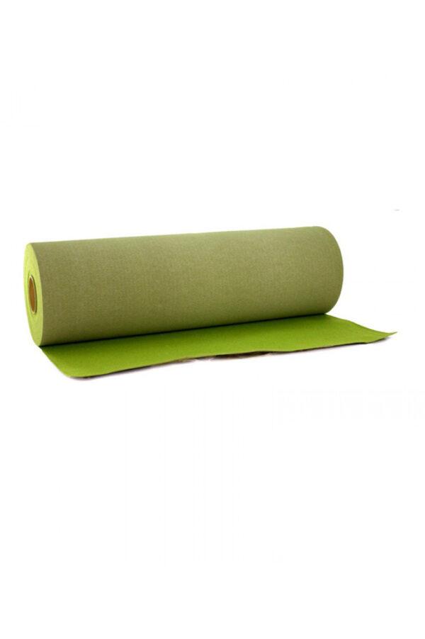 Tappeto passatoia da cerimonia verde muschio senza pellicola h. 1 mt x l. 30 mt
