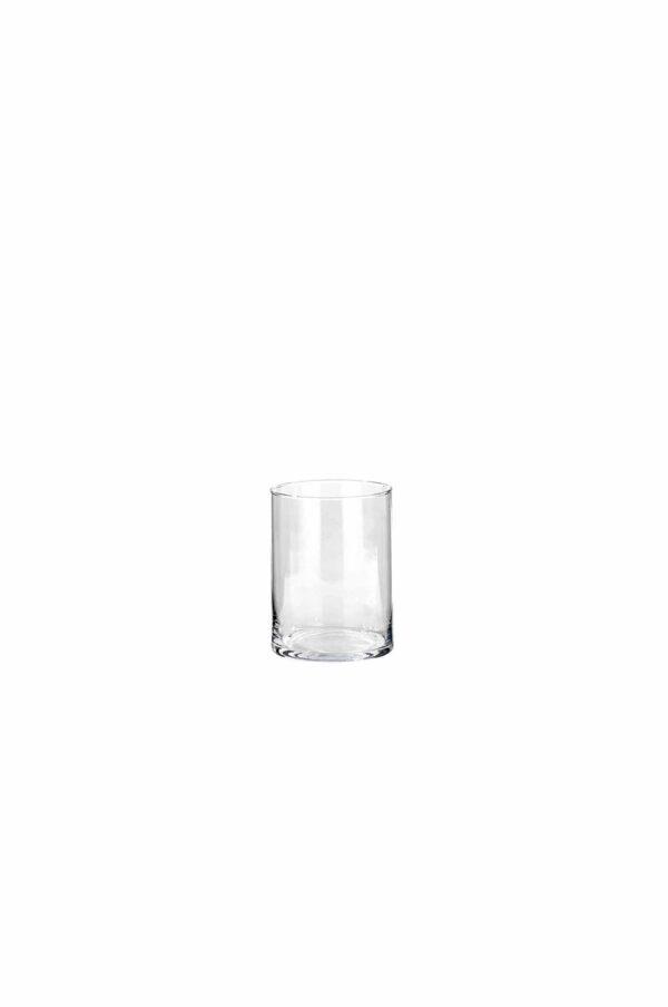 Vaso Cilindro portacandele - portafiori in vetro trasparente d. 15 cm h. 15 cm
