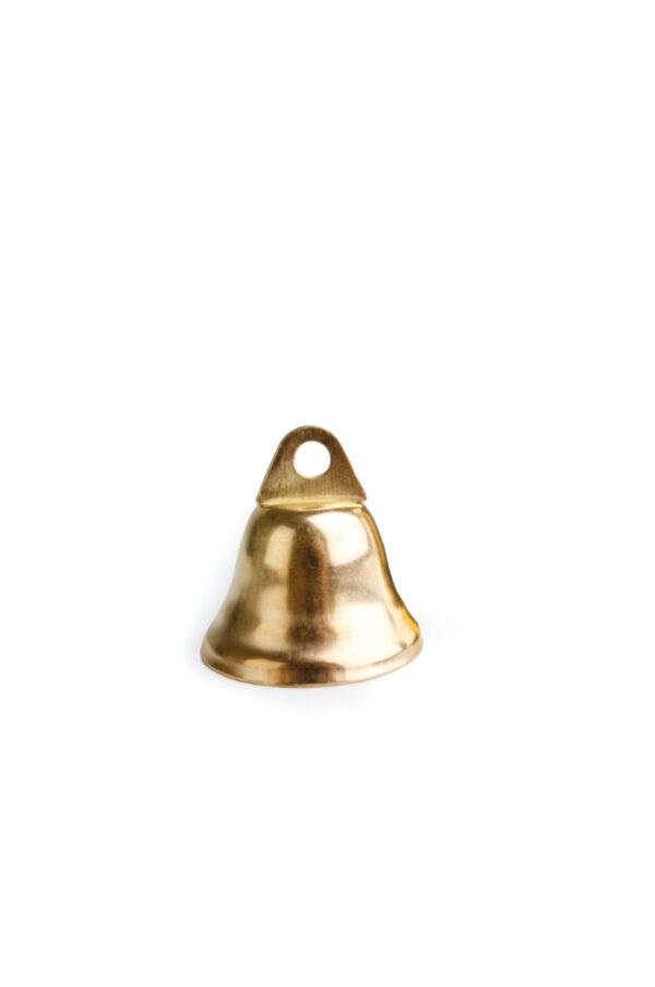 Box con 60 Campanelle chiudipacco decorative color oro d. 1,6 cm