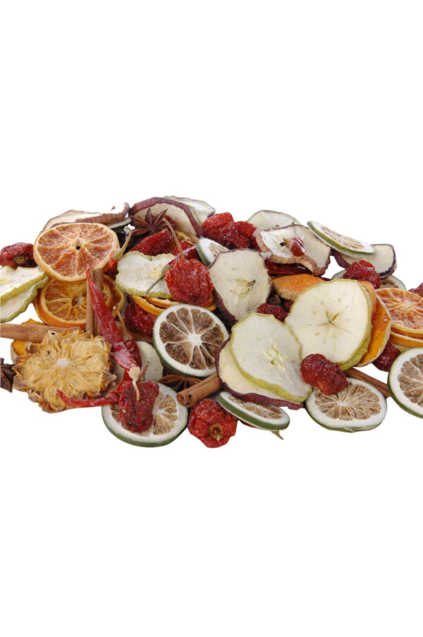 Box 250 gr. Frutta decorativa naturale ed essiccata e spezie