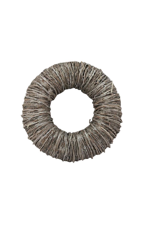 Ghirlanda - Corona di Natale con rami naturali ed essiccati sbiancati d. 35 cm