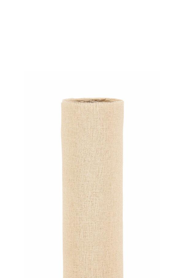Runner in tessuto morbido color tortora chiaro 70 cm x 5 mt