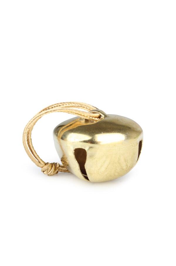 Box con 16 Campanelle chiudipacco decorative color oro con filo d. 4 cm