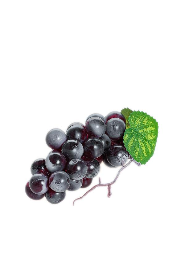 Frutta artificiale Grappolo d'uva viola 9 x 7 x 17 cm
