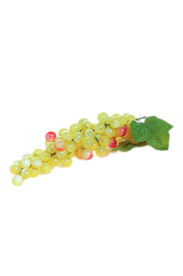 Frutta artificiale Grappolo d'uva verde e rossa 19 x 8,5 x 29 cm