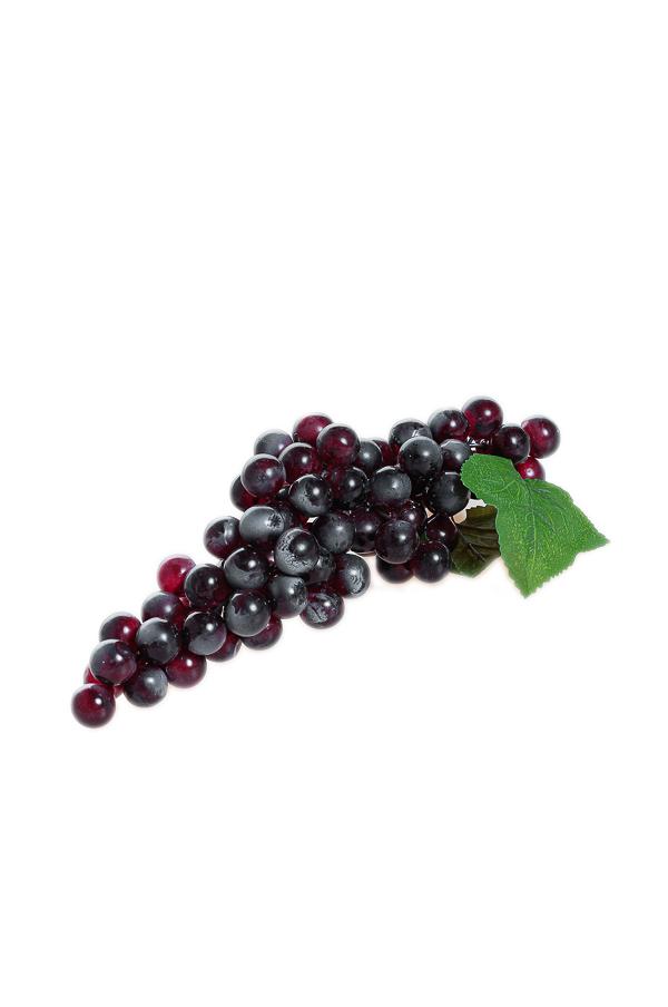Frutta artificiale Grappolo d'uva viola 19 x 8,5 x 29 cm