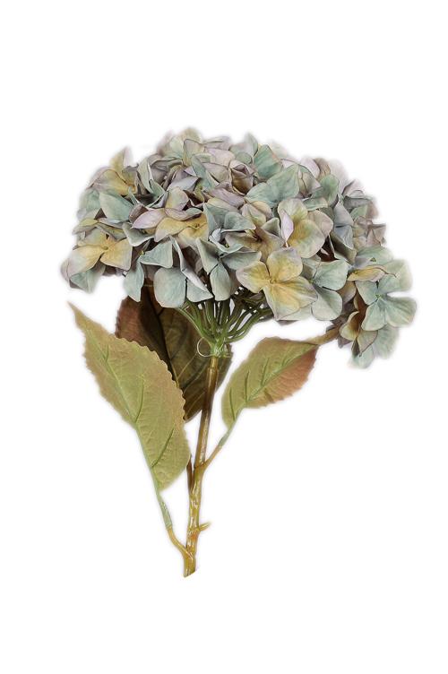 Ramo di Ortensia artificiale color Blu autunnale 109 cm