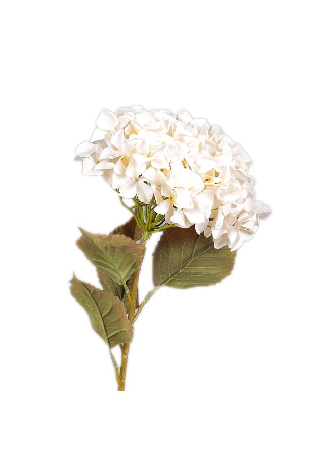Ramo di Ortensia artificiale color crema 109 cm