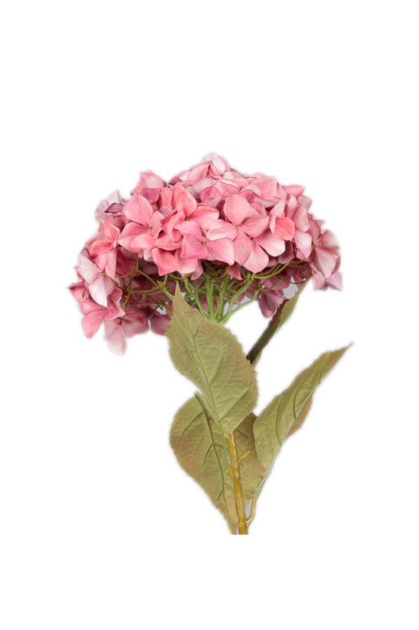 Ramo di Ortensia artificiale color Rosa purple 109 cm