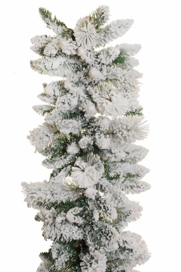 Ghirlanda natalizia di Pino innevato artificiale d. 34 cm. L. 270 cm.