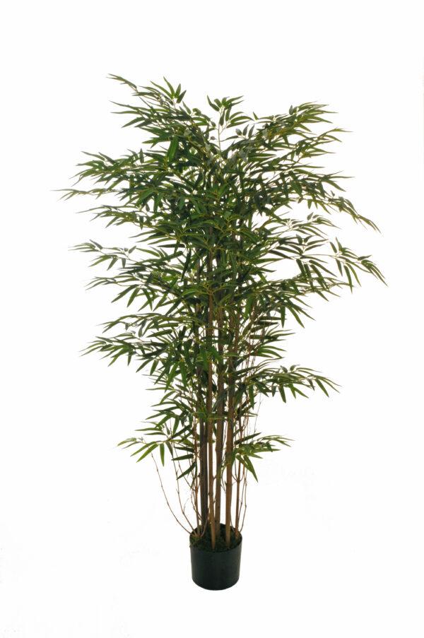 Pianta di Bamboo artificiale h. 150 cm con 1650 foglie e 10 tronchi naturali