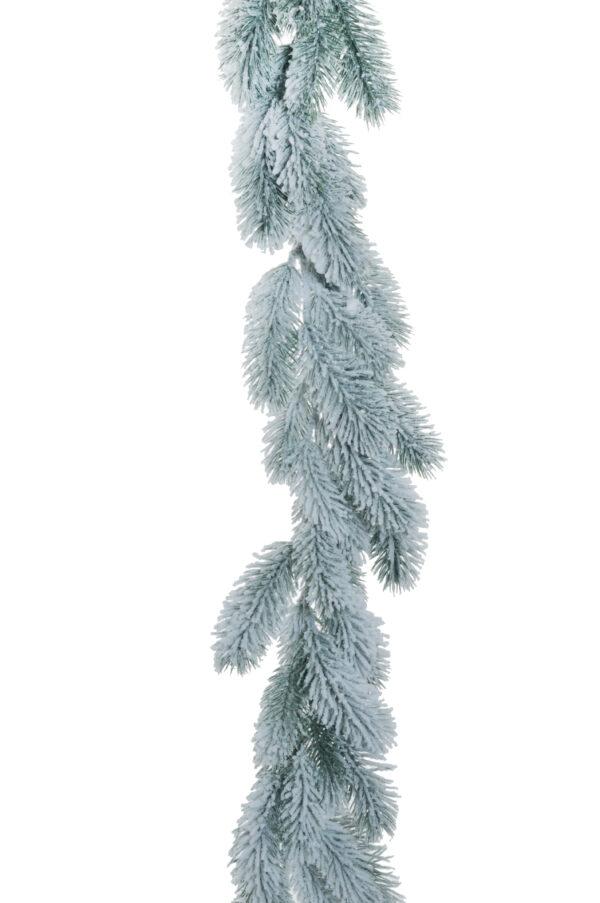 Ghirlanda natalizia di Pino artificiale innevato con 82 punte d. 16 cm. L. 170 cm.