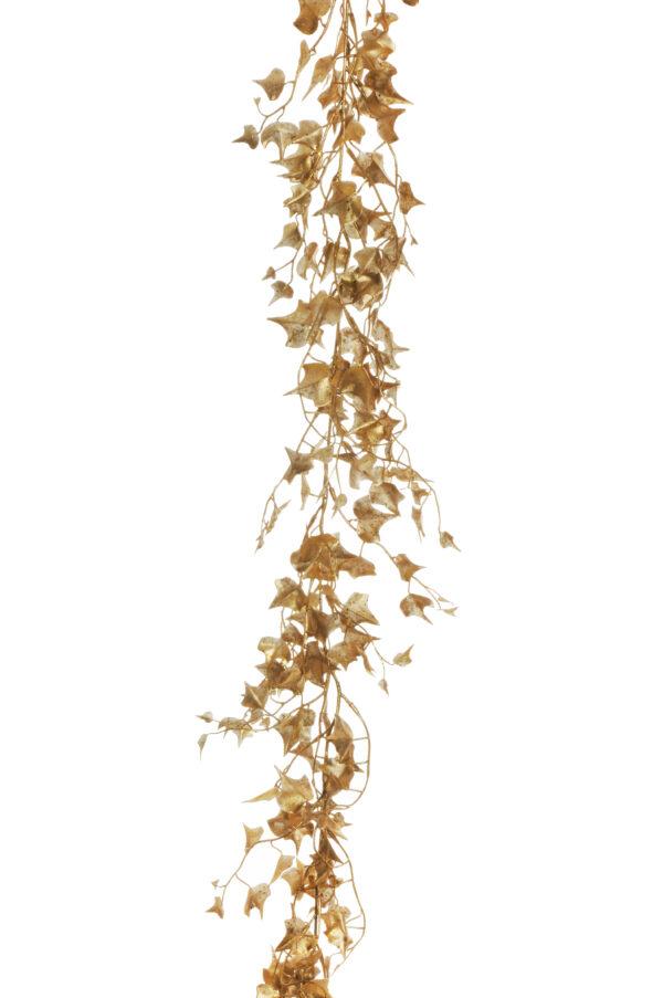 Ghirlanda di Edera artificiale effetto metallico color oro 182 cm.