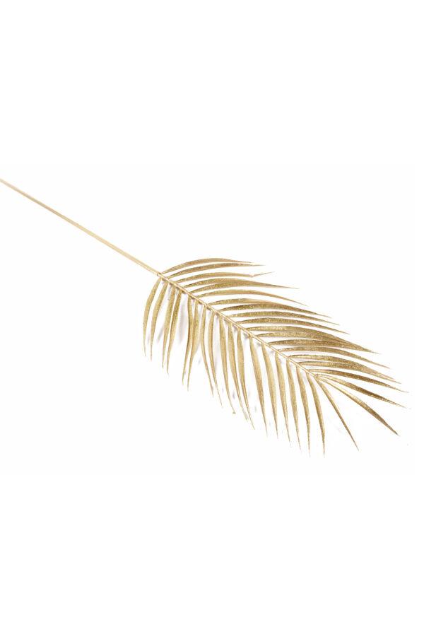 Ramo foglia di Palma artificiale colo oro con glitter 74 cm