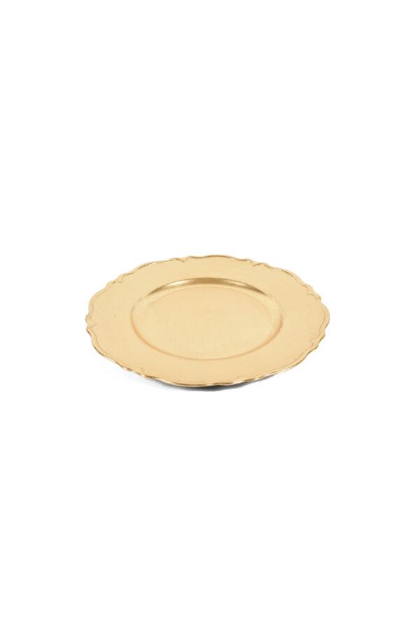 Piatto - Sottopiatto - Vassoio oro in plastica d. 33 cm