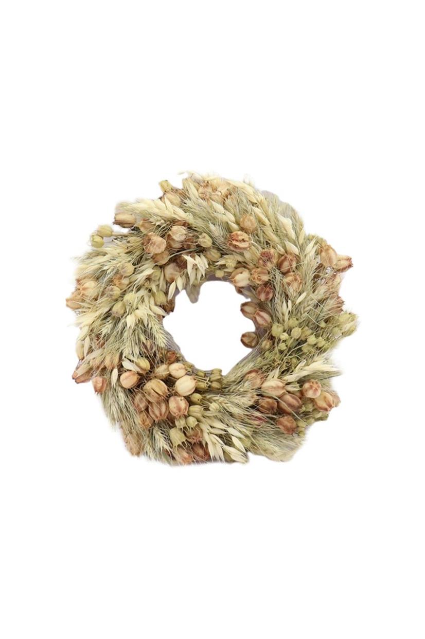 Ghirlanda con fiori Olandesi naturali, essiccati e stabilizzati d. 35 cm