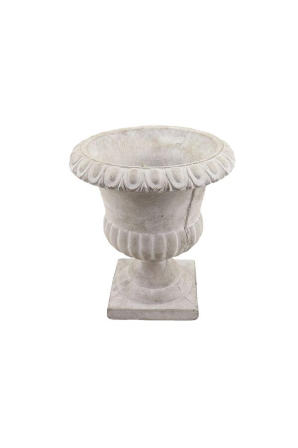 Coppa impero grigia d. 16 x h. 18 cm