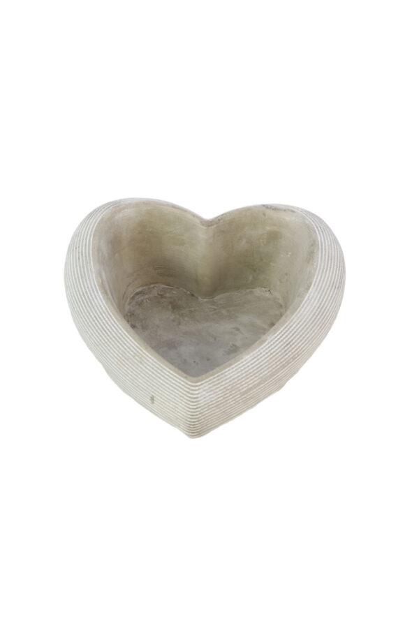 Ciotola Cuore in gesso grigio l. 19 x 19 x h. 8 cm